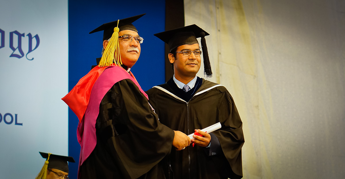 Taimur Raza. Receiving his Degree.