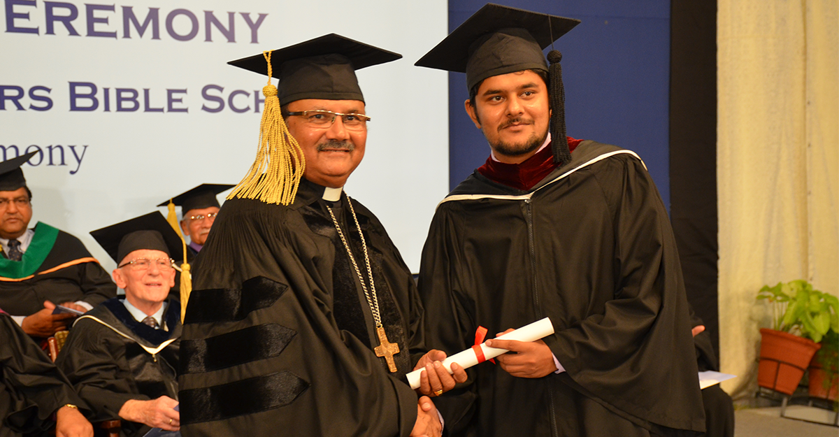 Irfan Patras receiving his Degree